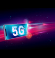 5g network wireless internet communication on vector image vector image