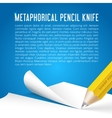 Abstract Background Metaphorical Pencil Stationary vector image