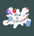 back to school school supplies poster template vector image vector image