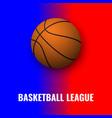 basketball banner with ball vector image