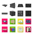 board game blackflet icons in set collection for vector image