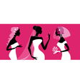 brides silhouettes vector image vector image