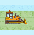 bulldozer used in farming cartoon flat style vector image