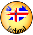 button Iceland vector image