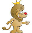 Cartoon Lion with a Crown vector image