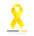 childhood cancer awareness month realistic gold vector image vector image