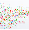 colroful confetti and ribbons falling background vector image