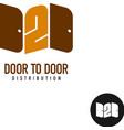 Door to door distribution logo concept Silhouette vector image