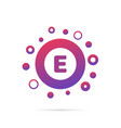 dots and letter e logo in circle abstract logo vector image vector image