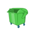 Dumpster icon cartoon style vector image