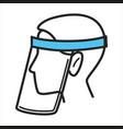 face shield protective mask measures during vector image