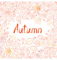 fall leaf nature seamless pattern autumn leaves vector image vector image