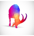 Geometric silhouettes animals Goat Ibexes vector image vector image