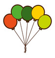green bunch balloons decoration ornament party vector image vector image