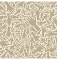 Hand background vector image vector image