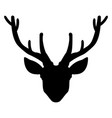 head deer the black color icon vector image