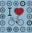 I love bicycle with wheel set vector image vector image