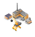 industrial factory design white background concept vector image vector image