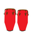 isolated pair of conga drums vector image