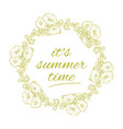 its summer time wreath with flowers isolated vector image vector image