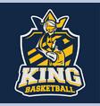 king basketball modern professional logo badge vector image vector image
