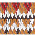 Knitting seamless pattern hand drawn vector image