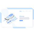 landing page template with point sale vector image
