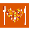 Love food vector image