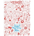 LoveValentine Day - doodles collection vector image vector image