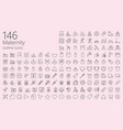 maternity outline iconset vector image vector image