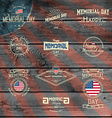 Memorial day badges logos and labels for any use vector image vector image