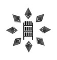 mining etherium farm icon extraction of vector image vector image