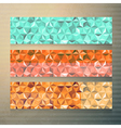 Modern banners with polygonal background vector image vector image