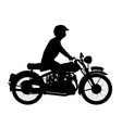 motor cyclist silhouette vector image vector image