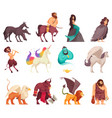 mythical creatures cartoon set vector image