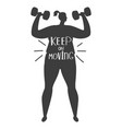 obese woman training silhouette vector image vector image