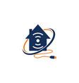 online home logo design template vector image vector image
