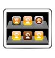Operator orange app icons vector image