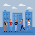 people at town vector image vector image