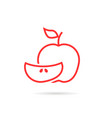 piece of red apple logo vector image vector image