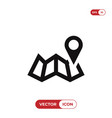 pin on map icon vector image vector image