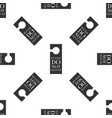 please do not disturb icon seamless pattern vector image vector image