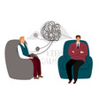psychotherapy counsel concept vector image vector image