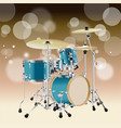 realistic drum kit background 4 vector image