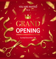 realistic grand opening invitation pattern vector image