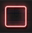 rectangle neon lamp realistic square fluorescent vector image