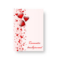 rectangular booklet with scarlet hearts vector image vector image