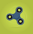 rotating fidget spinner stress relieving toy 3d vector image
