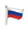 russian flag continuous line vector image vector image