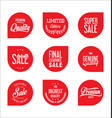 sale price tag modern design collection 13 vector image vector image